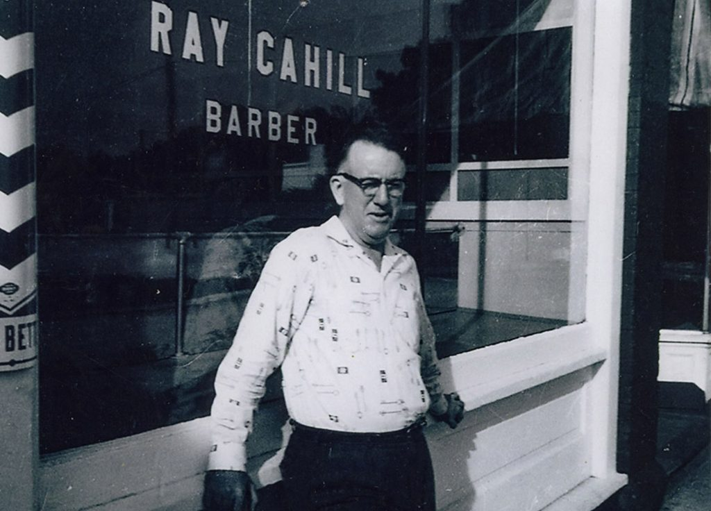 Ray Cahill Standing Outside Barbershop