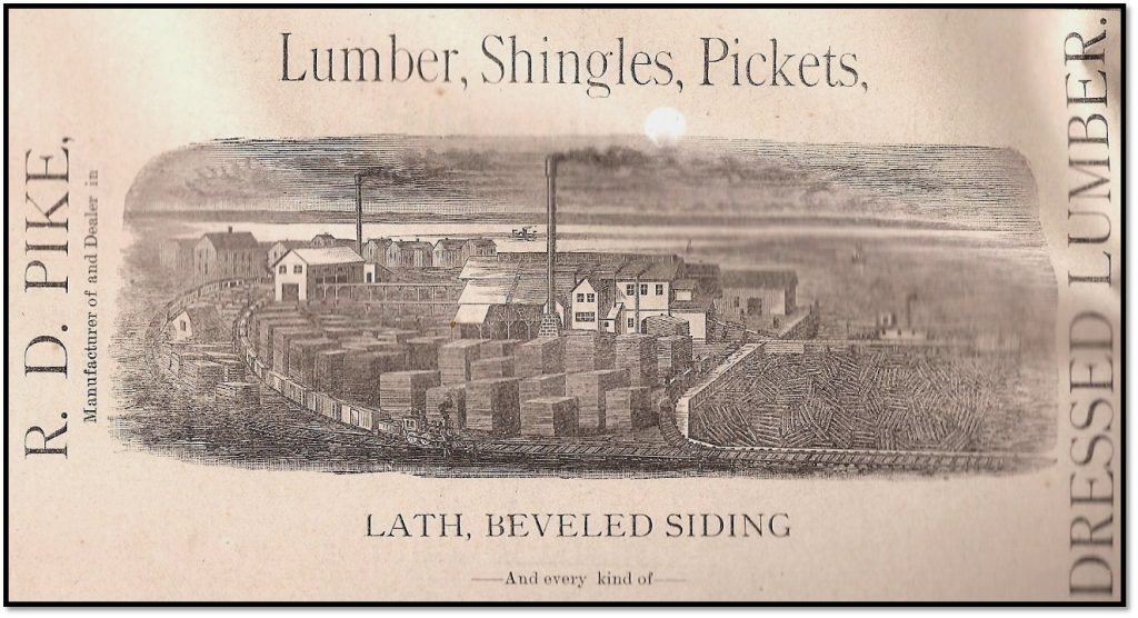Pike's Bayfield mill advertisement in the Bayfield County Press ca 1900