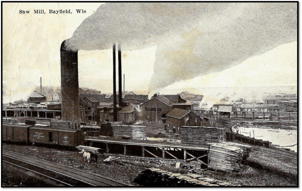 Daisy Sawmill in Bayfield Post Card BHA 80.1.519