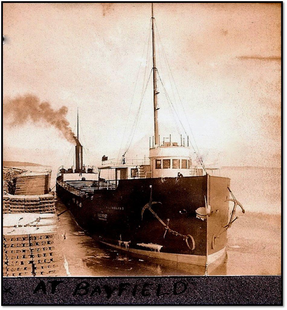 The Ireland Loading at Bayfield East Dock December 1906 Photo Burt Hill