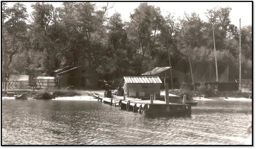 Rocky Island - Eli LaPointe Logging Camp Cook Shack and Bunkhouse ca 1940s