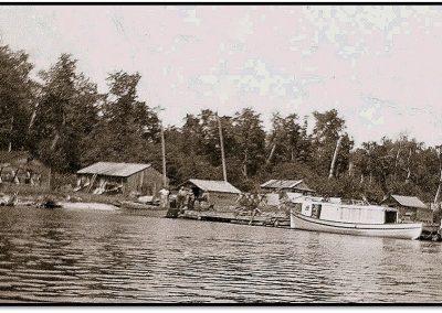 Logging Cedar on Rocky Island – 1928