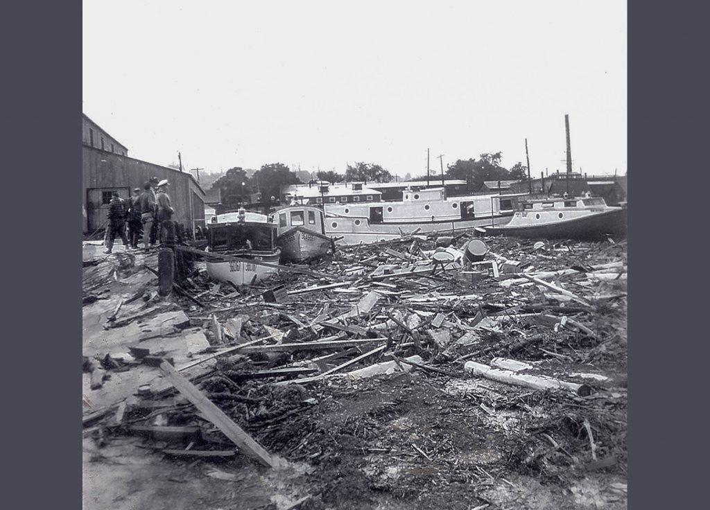 1942 Flood - Debris in Bayfield Harbor - 2009.1.1