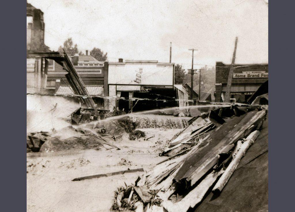 1942 Flood - Rittenhouse Ave - Turnquist Building - Community Bakery Damage 2007.13.3