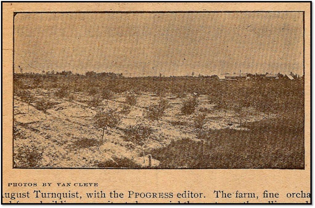 August Turnquist Farm Bayfield Progress September 23 1909