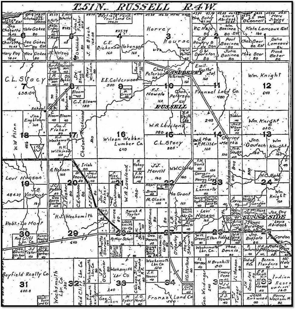 1906 Town of Russell Plat Map