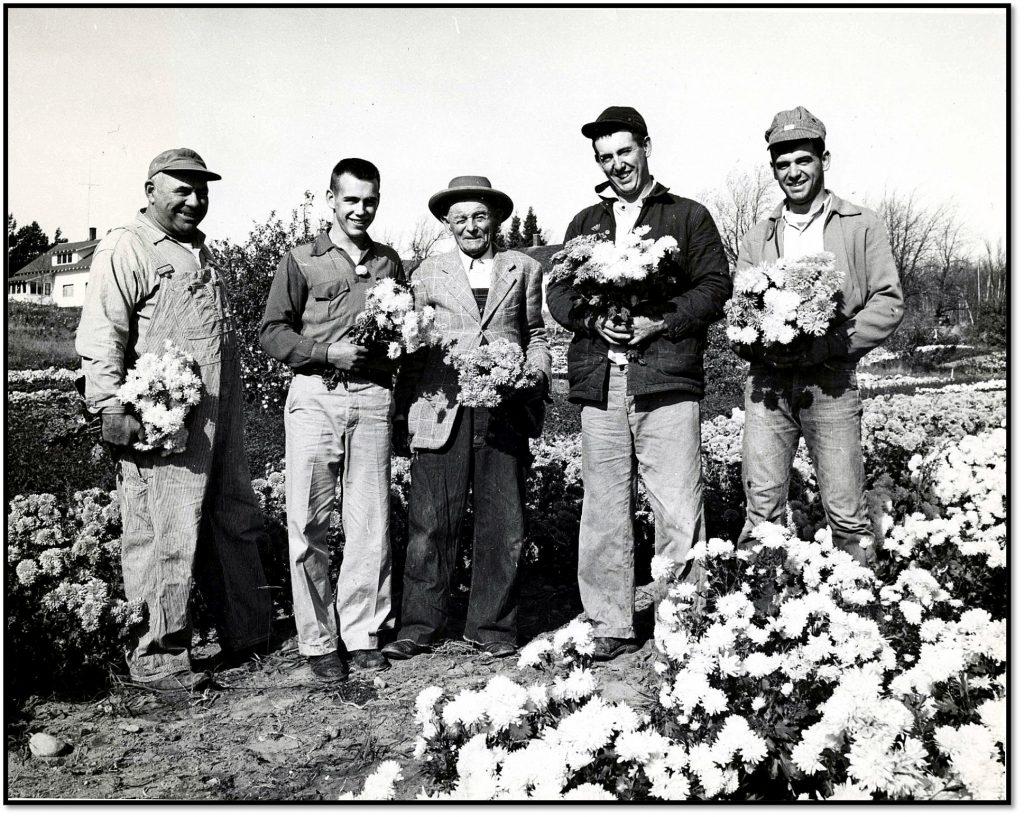 John Hauser with his Sons Dawson - William - John Sr - John and James Hauser ca 1957