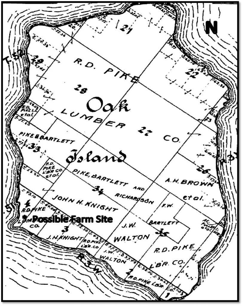 Oak Island Ashland County Plat Book - 1906