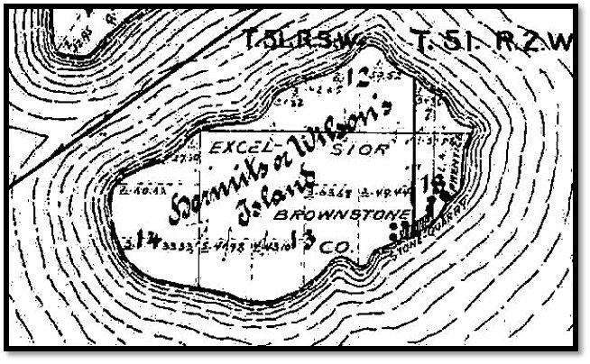 Wilson - Hermit Island Map Ashland County Plat Book c 1905