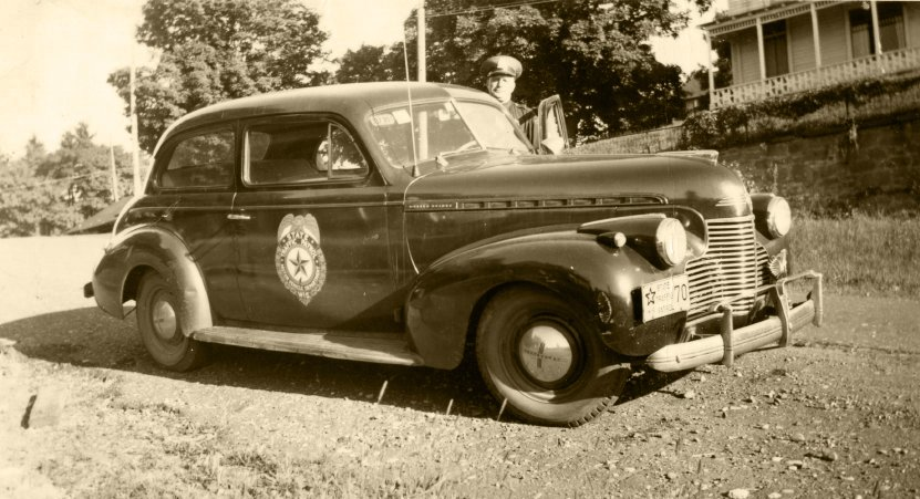 Bayfield Police car in the 1940's