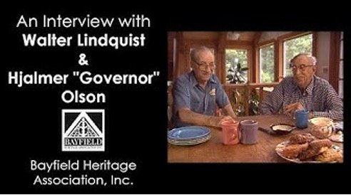 """Walter Lindquist and Hjalmer """"Governor"""" Olson"""